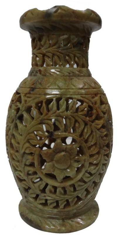 Avinash Handicrafts Stoneware Vase(6 inch, Multicolor)
