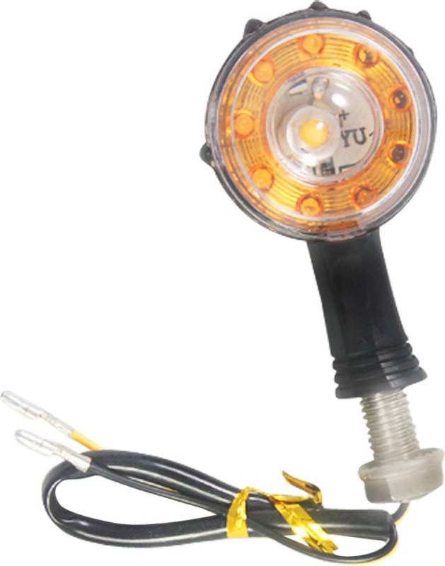 Vheelocityin Front, Rear LED Indicator Light for Royal Enfield Electra(White)