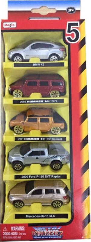 Maisto 5 Pcs. Gift Set Diecast Cars Set - Assortment 3(Multicolor)