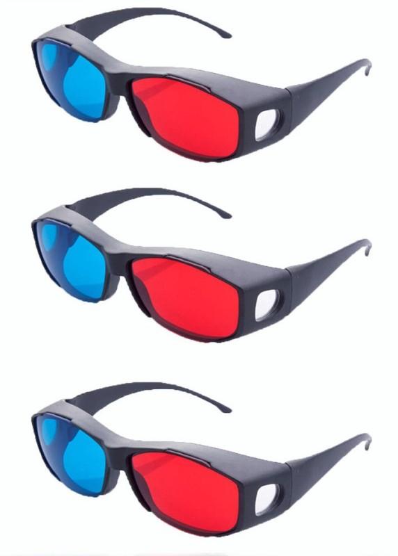 Hrinkar Updated Version ( 3 Pcs Pack ) Video Glasses(Black)