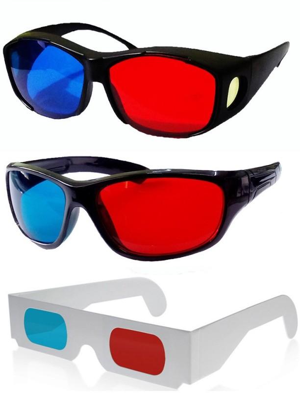 Hrinkar Updated Version 1 + 2 Video Glasses(Black, white)