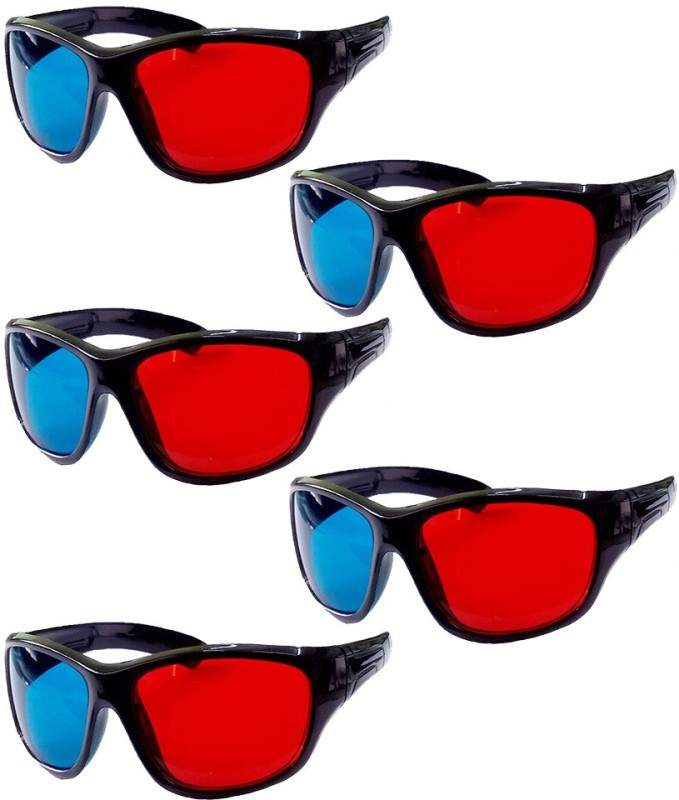 Hrinkar Updated Version ( 5 Pcs Pack ) Video Glasses(Black)