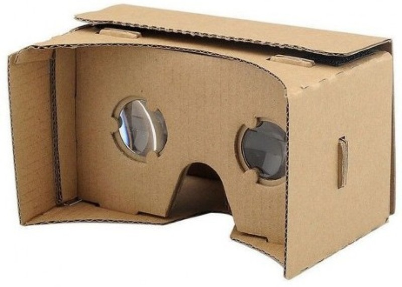 DOMO VRC57 nHance Google Cardboard with Magnet Virtual Reality 3d And Headset For Smart Phones Upto 5.7 Screen Video Glasses(Black)