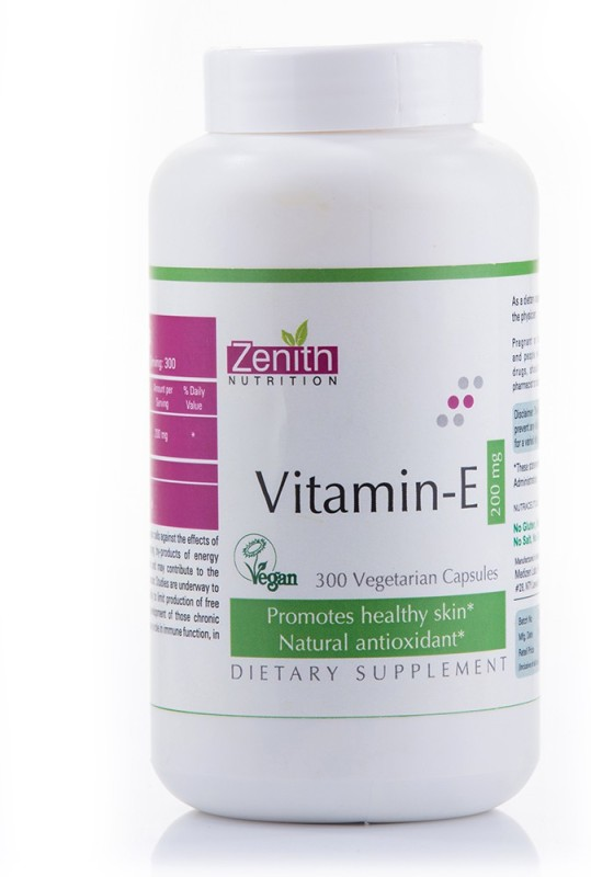 Zenith Nutrition Vitamin E 200mg 300 Nos(300 No)