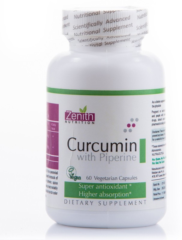 Zenith Nutrition Curcumin With Piperine(60 No)