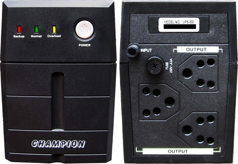 Champion UPS for LED TV - 800VA UPS/STABILIZER(Black)