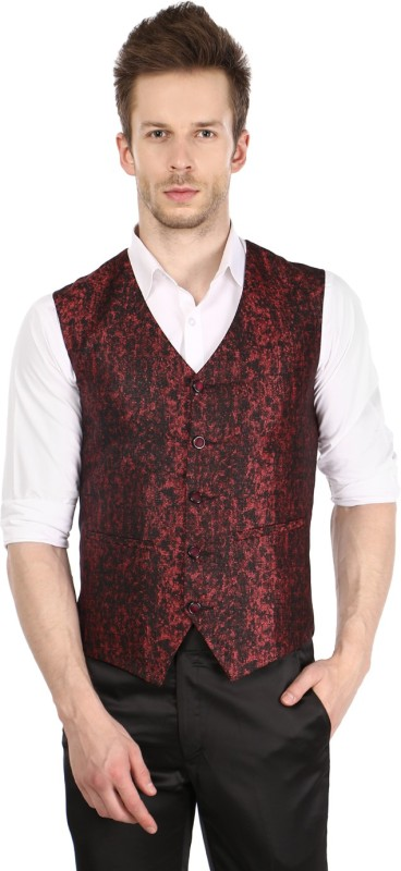 Platinum Studio Self Design Men Waistcoat