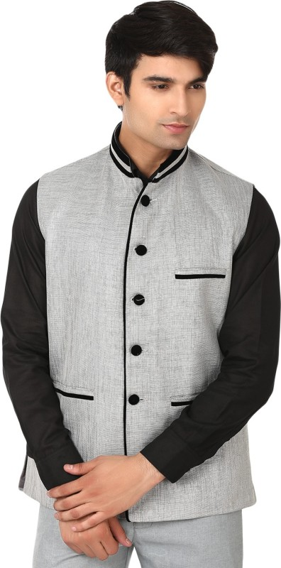 WINTAGE Stylish Appeal Solid Mens Waistcoat
