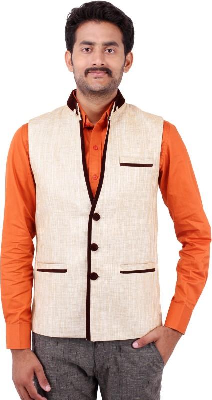 Platinum Studio Solid Men Waistcoat
