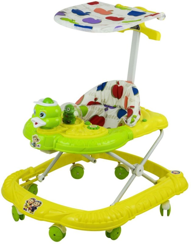 Panda Creation Musical Activity Walker With Parent Rod(Green)