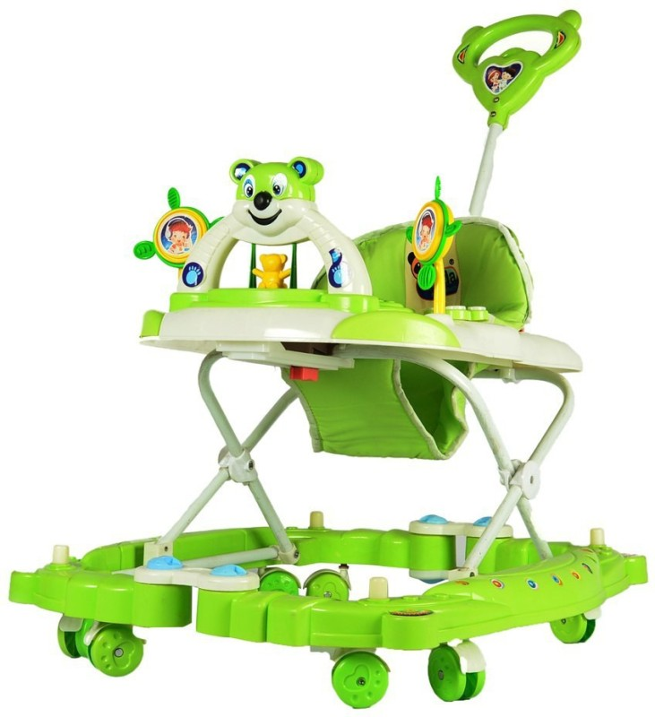 Panda Creation Musical Walker & Rocker With Parent Rod(Green)