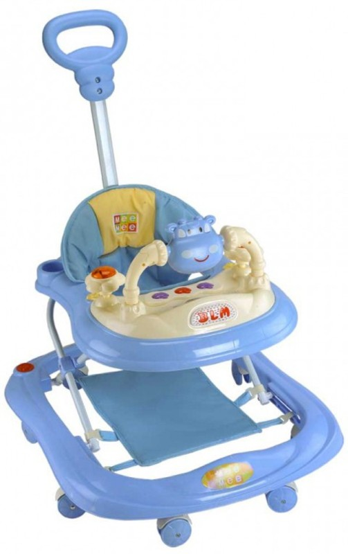 Meemee Musical 2-in-1 Walker With Parent Rod(Blue)