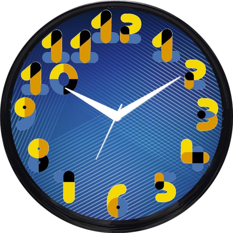 Cartoonpur Analog 28 cm Dia Wall Clock(Black, With Glass) CPRB11451