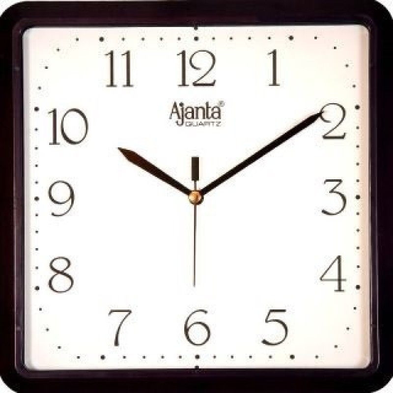 ajanta397 Analog 28 cm X 28 cm Wall Clock(Black, With Glass)