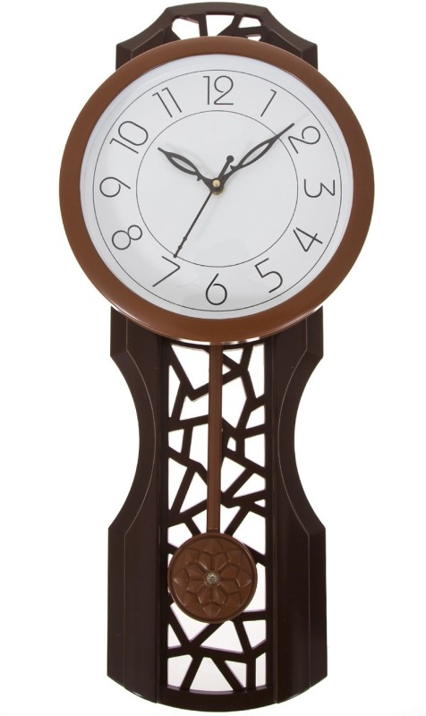 Smile2u Retailers Analog Wall Clock(Brown, With Glass)