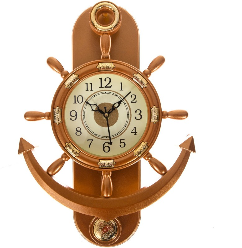 Smile2u Retailers Analog Wall Clock(Copper, With Glass)
