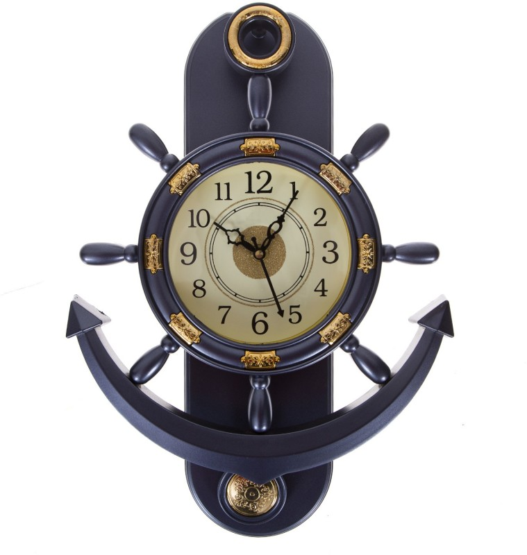 Smile2u Retailers Analog Wall Clock(Metallic, With Glass)