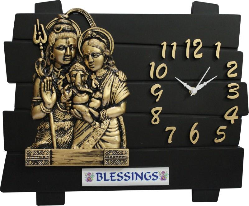 SD Enterprises Analog Wall Clock(Black, Without Glass)