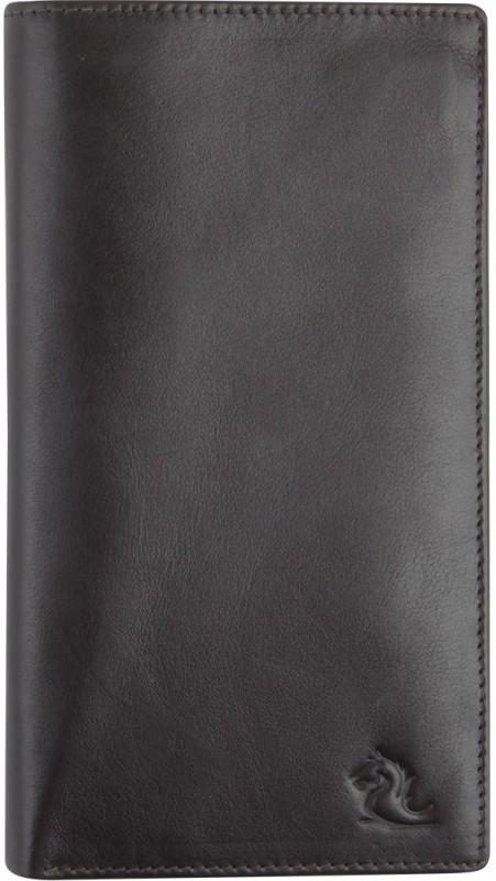 Kara Women Brown, Black Genuine Leather Wallet(16 Card Slots)