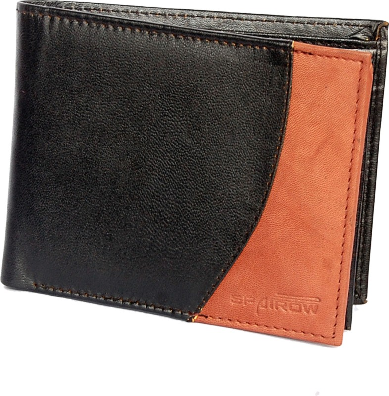 Spairow Men Casual, Formal Black, Brown Genuine Leather Wallet(6 Card Slots)