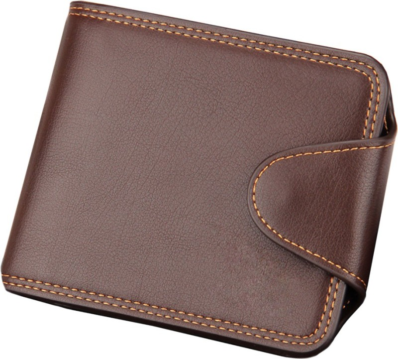 Shockyfi Men Brown Artificial Leather Wallet(11 Card Slots)