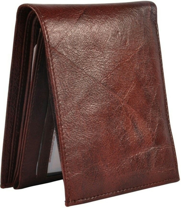 Bizarre Kraftz Men Brown Genuine Leather Wallet(6 Card Slots)