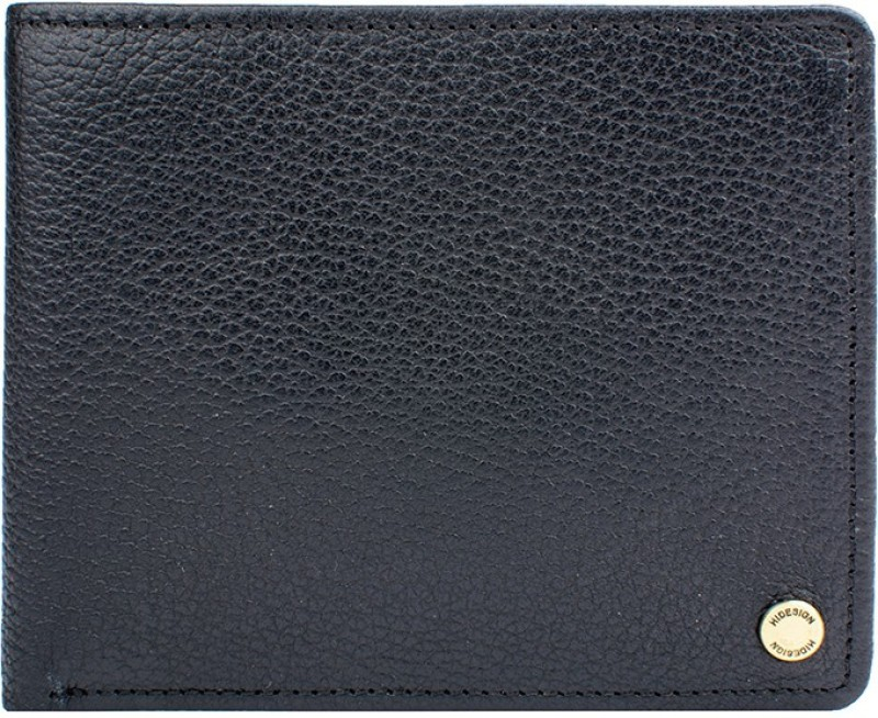 Hidesign Men Black Genuine Leather Wallet(9 Card Slots)