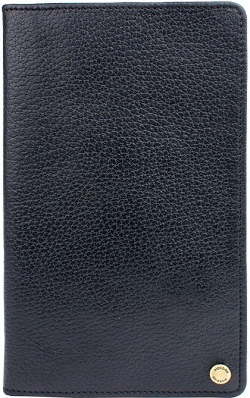 Hidesign Men Black Genuine Leather Document Holder(14 Card Slots)