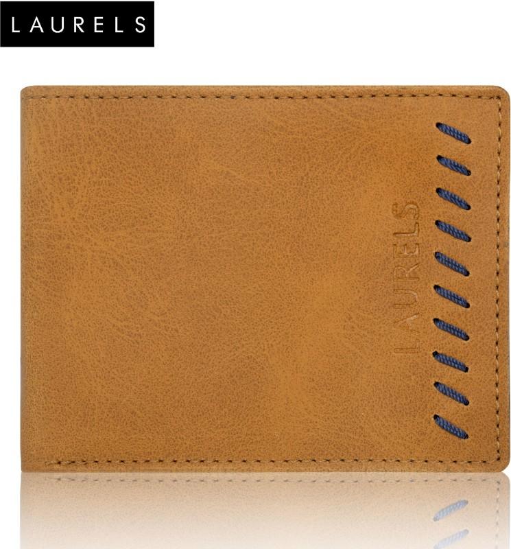 Laurels Men Tan Artificial Leather Wallet(7 Card Slots)