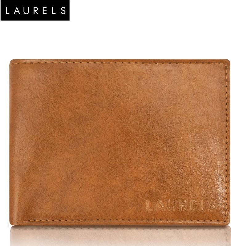 Laurels Men Casual Tan Genuine Leather Wallet(7 Card Slots)