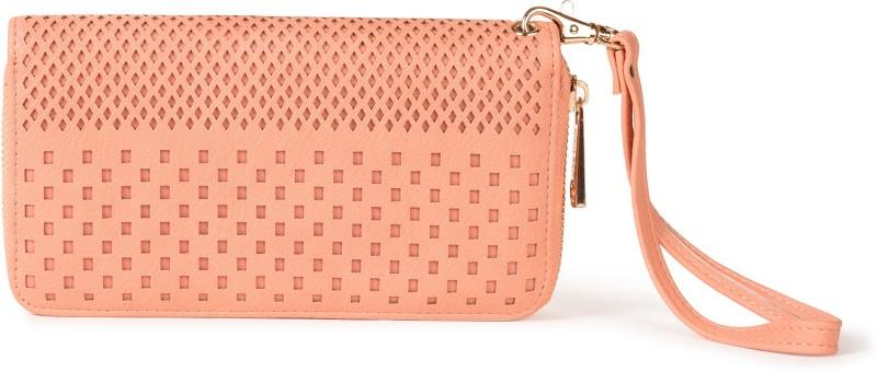 Diana Korr Women Pink Artificial Leather Wallet(8 Card Slots)