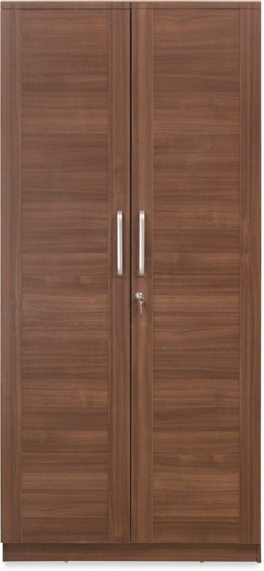 @home by Nilkamal SANSA Engineered Wood 2 Door Wardrobe(Finish Color - Brown)