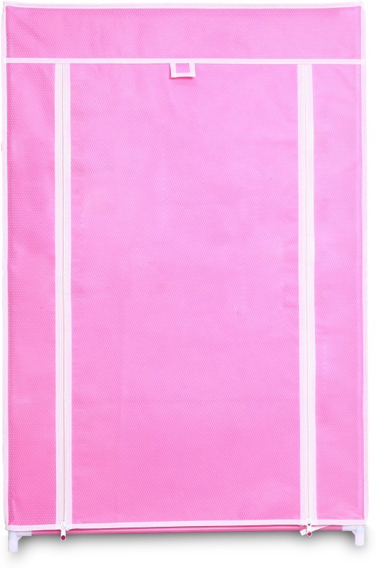 birdy Micro Fiber Collapsible Wardrobe(Finish Color - pink)
