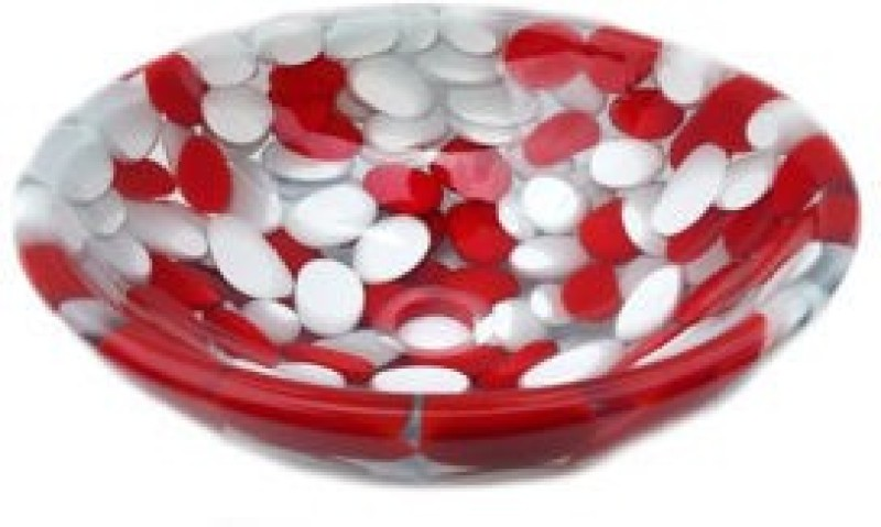 Mudit Resin M6 Table Top Basin(Red, White)