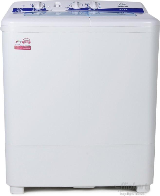 Godrej 6.2 kg Semi Automatic Top Load Washing Machine White(GWS 6203 PPD)