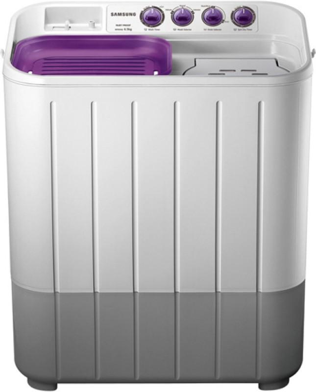 Samsung 7 kg Semi Automatic Top Load Washing Machine Grey, Purple(WT705QPNDMPXTL)
