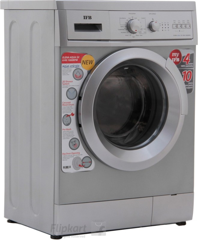 IFB 6 kg Fully Automatic Front Load Washing Machine Silver(Elena Aqua SX LDT)