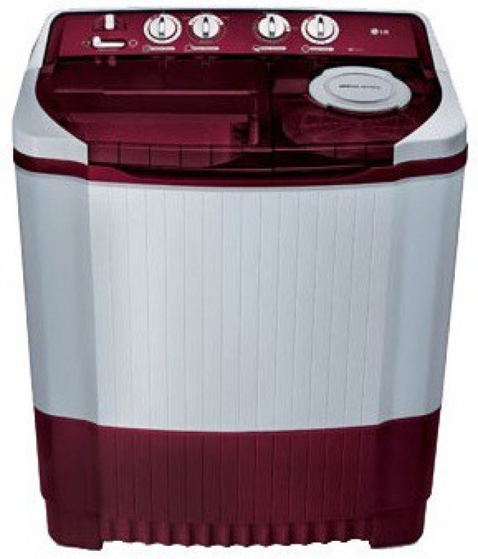 LG 8 kg Semi Automatic Top Load Washing Machine White, Maroon(P9032R3SM)