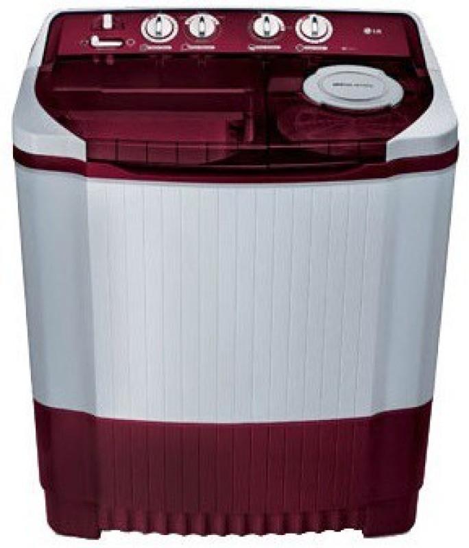 LG 8 kg Semi Automatic Top Load Washing Machine White, Maroon(P9032R3SM)