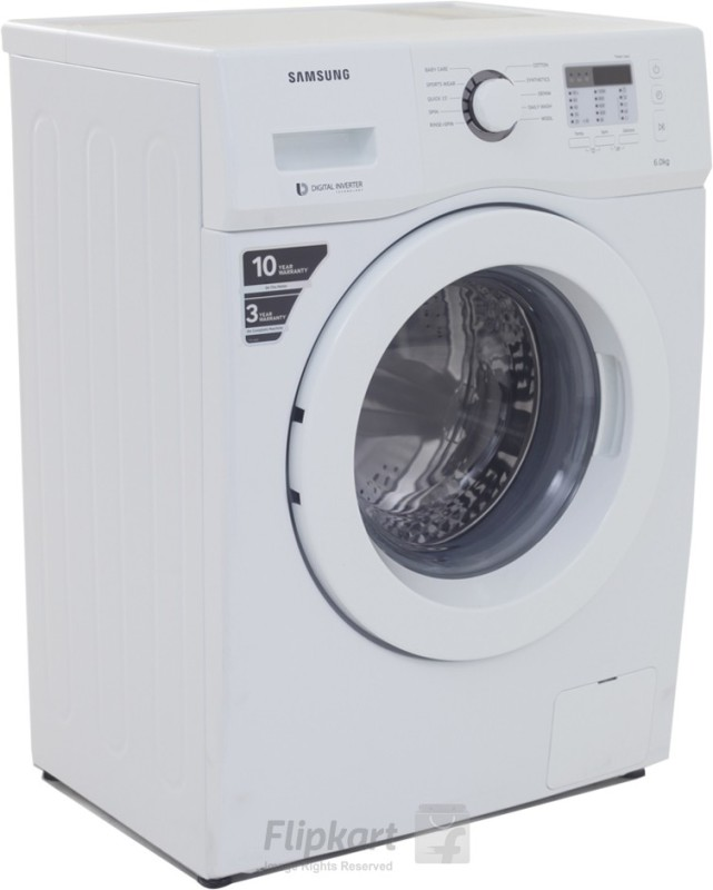 Samsung 6 kg Fully Automatic Front Load Washing Machine White(WF600B0BTWQ)