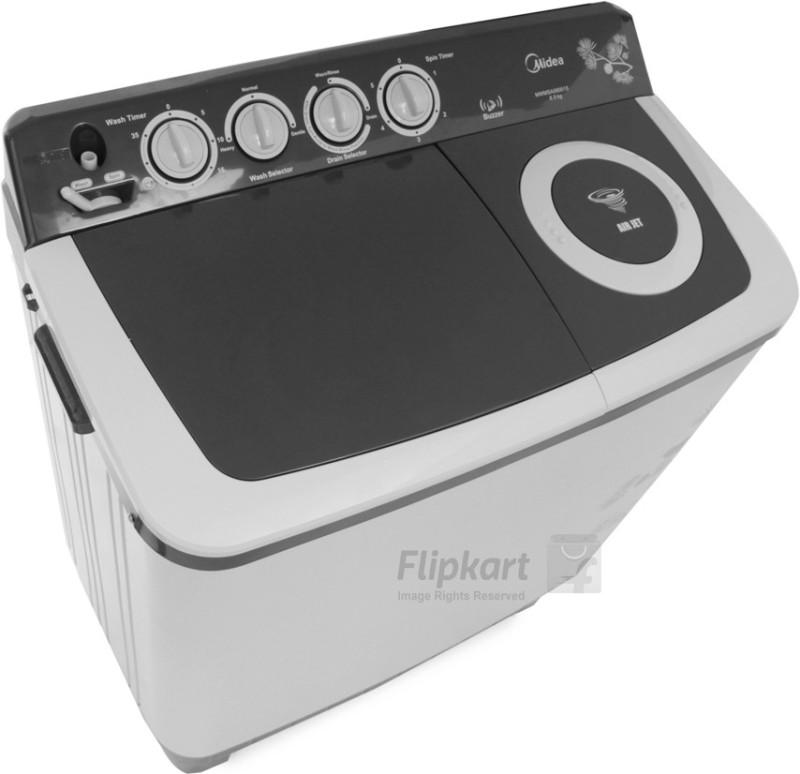 Carrier Midea 8 kg Semi Automatic Top Load Washing Machine(MWMSA080015)