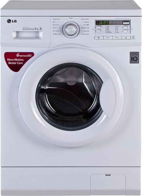 LG 7 kg Fully Automatic Front Load Washing Machine White(FH0B8QDL22)