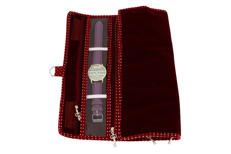 kp-watch-cum-payal-cover-watch-boxmaroon-holds-5-watches