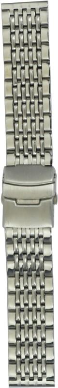 Kolet Two Tone Solid JS 22 mm Steel Watch Strap(Silver)