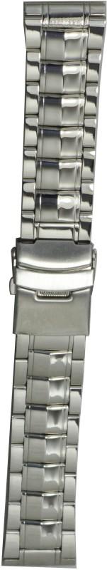 Kolet Two Tone Solid S6S 22 mm Steel Watch Strap(Silver)