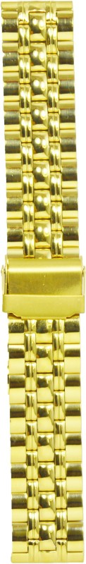 Kolet Gold Plated 20DP 20 mm Stainless steel Watch Strap(Gold)