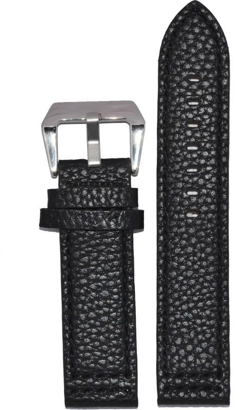 Kolet Dotted 22B 22 mm Leather Watch Strap(Black)