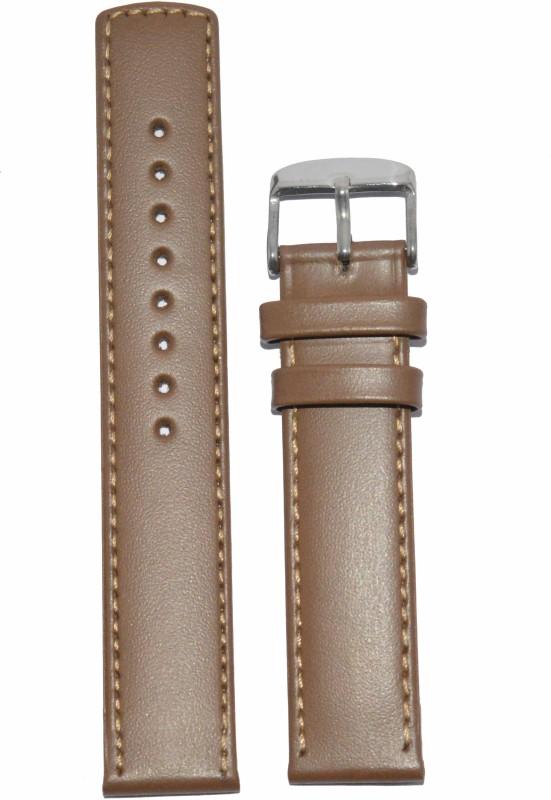 Kolet Plain Parallel 18BE 18 mm Leather Watch Strap(Beige)