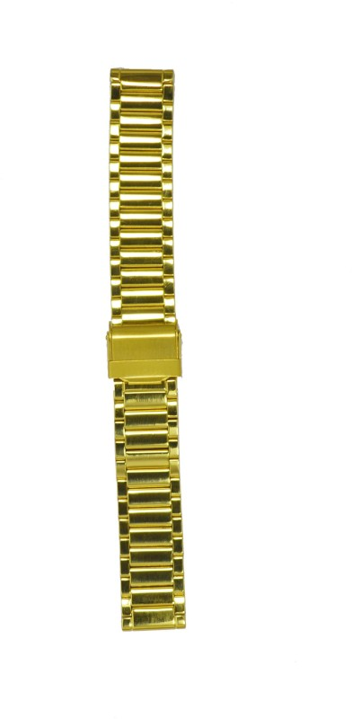 Kolet Gold Plated 18P 18 mm Stainless Steel Watch Strap(Gold)