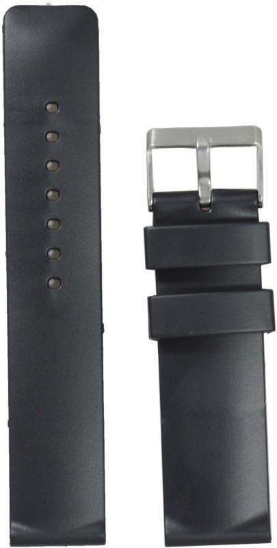 Kolet Plain 22 mm PVC Watch Strap(Black)